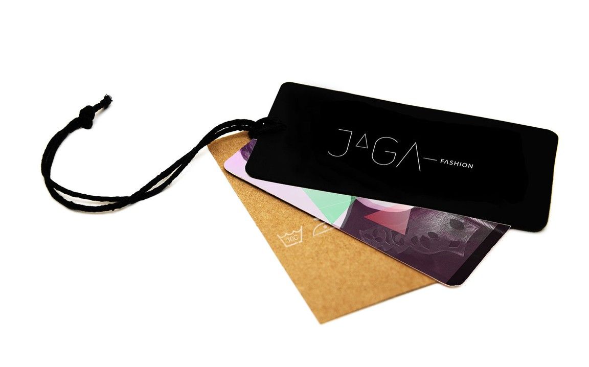 Clothing label with logo design for Jaga Fashion