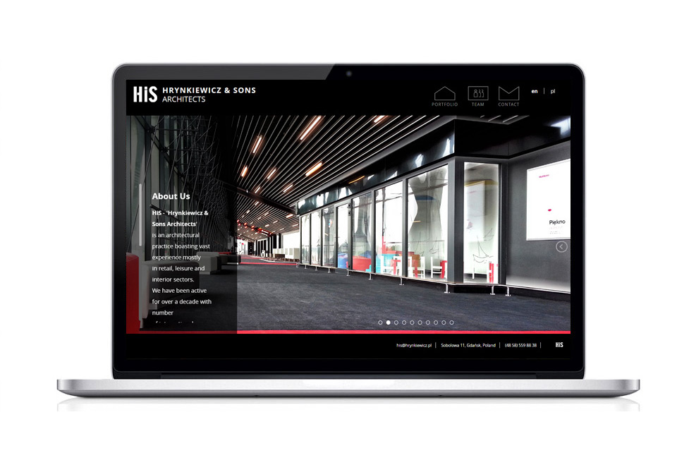 Website for the Architects firm Hrynkiewicz & Sons