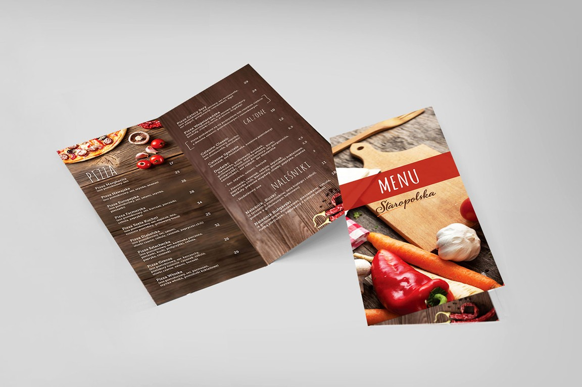Food menu design for restaurant Staropolska